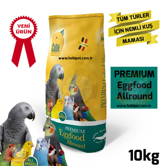 Cede - Cede Allround Tüm Kuşlar İçin Hazır Nemli Yumurtalı Kuş Maması 10kg