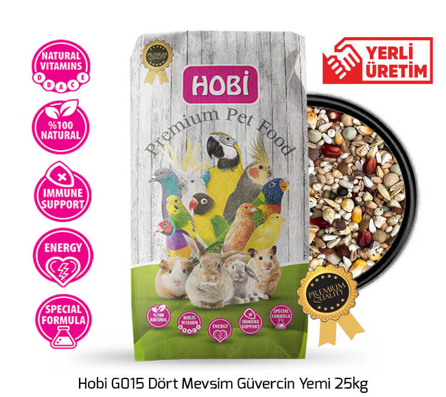 Hobi - Hobi G015 Dört Mevsim Güvercin Yemi 25kg