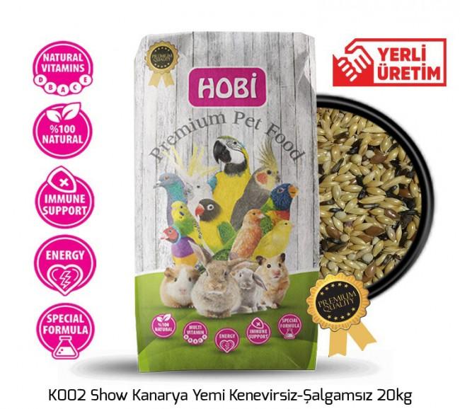 Hobi - Hobi K002 Show Kanarya Yemi Kenevirsiz-Şalgamsız 20kg