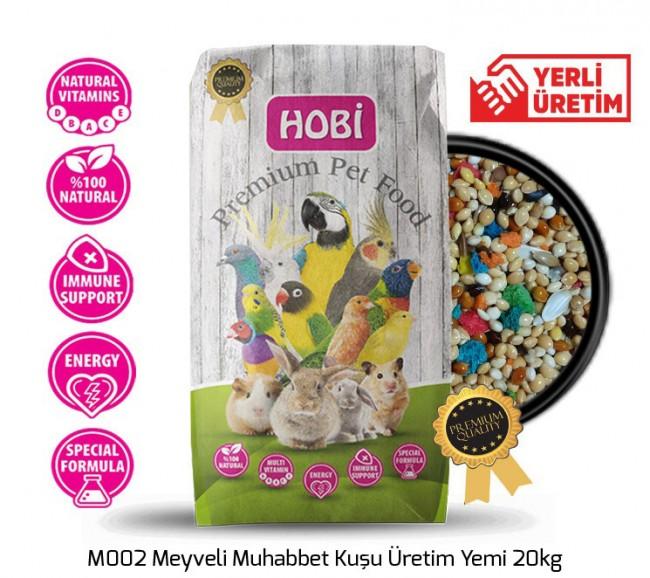 Hobi - Hobi M002 Meyveli Muhabbet Kuşu Üretim Yemi 20kg