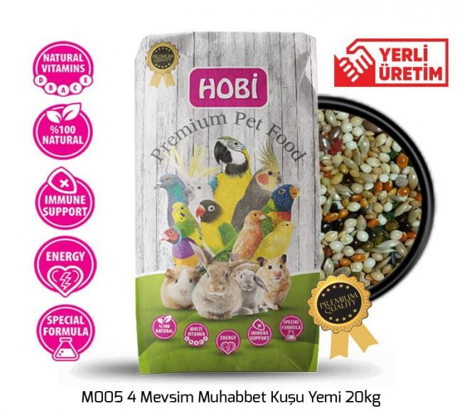 Hobi - Hobi M005 4 Mevsim Muhabbet Kuşu Yemi 20kg