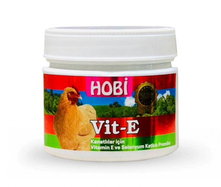 Hobi Vit-E Kanatlılar İçine E Vitamini ve Selenyum 150gr