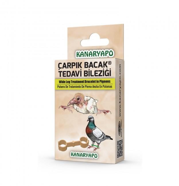 Kanaryapo - Kanaryapo Güvercinler ve Papağanlar İçin Çarpık Bacak Tedavi Bileziği Seti 10 Adet