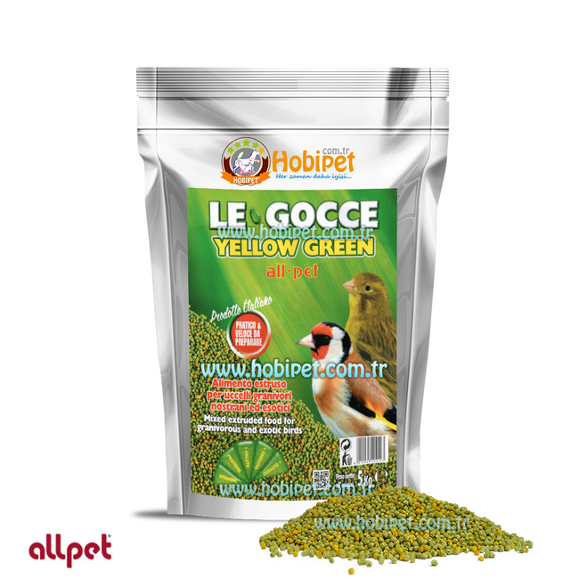 Allpet - Le Gocce Yellow Green %18 Bitkisel Proteinli ve Vitaminli Mama Nemlendiricisi 5kg