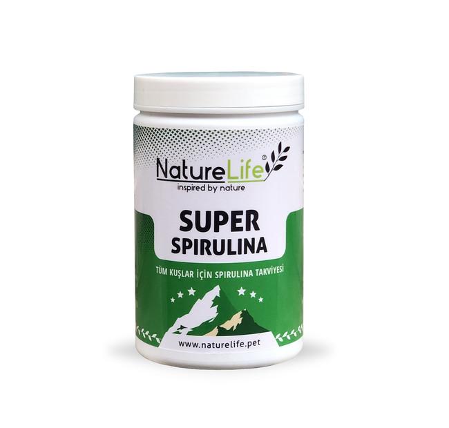 NatureLife - Naturelife Super Spirulina Tüm Kuşlar İçin %100 Saf Spirulina Takviyesi 100gr